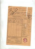 Bordereau Valeurs à Recouvrer Cachet Lens Sur Recouvrement 60 C - Documents De La Poste