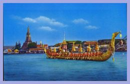 CPSM Couleurs - Bangkok (Thailand) - 74. The Supannahngse Thai Royal Stat Barge - Thaïlande