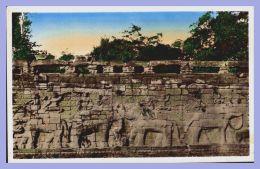 CPSM Colorisée - Angkor-Thom (Indochine Française) - 158. Terrasse Royale Dite Des Elephants - Cambodia