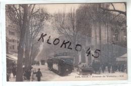 45 NICE - Avenue De Victoire - Animé Voitures Tramway  N°2 Vue Prise En Hiver ...- CPA Sépia RM 148 - Ferrovie – Stazione