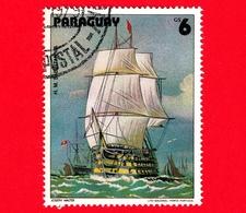 "PARAGUAY - Usato - 1979 - Dipinti Di Barche A Vela - Navi - Velieri - Ship - Walter: HMS ""Britannia"" - 6 - Paraguay"