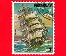 PARAGUAY - Usato - 1979 - Dipinti Di Barche A Vela - Navi - Velieri - Ship - Salamis - 7 - Paraguay