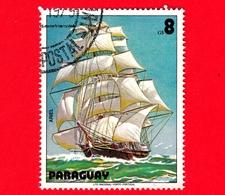 PARAGUAY - Usato - 1979 - Dipinti Di Barche A Vela - Navi - Velieri - Ship - Ariel - 8 - Paraguay