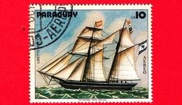 "PARAGUAY - Usato - 1979 - Dipinti Di Barche A Vela - Navi - Velieri - Ship - Saver ""Lisette"" - 10 - Paraguay"
