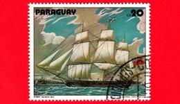 PARAGUAY - Usato - 1979 - Dipinti Di Barche A Vela - Navi - Velieri - Salmon: Warship - 20 - Paraguay