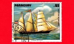 "PARAGUAY - Usato - 1979 - Dipinti Di Barche A Vela - Navi - Velieri - Schooner ""Holstein"" - 25 - Paraguay"