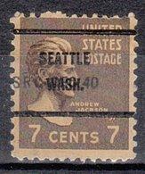 USA Precancel Vorausentwertung Preo, Bureau Washington, Seattle 812-61 - Vereinigte Staaten