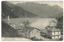 """POSTCARD  WITH VIEW OF MESCHINO E IL LAGO DI POSCHIAVO , CANCEL : """" LE PRESE BAGNI  """" , 1909 . - GR Grisons"""