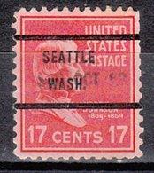 USA Precancel Vorausentwertung Preo, Bureau Washington, Seattle 822-71 Dated, Perf. Not Perfect - Vereinigte Staaten