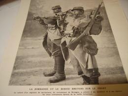AFFICHE PHOTO  LA BOMBARDE ET LE BINIOU BRETON SUR LE FRONT 1915 - Posters