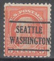USA Precancel Vorausentwertung Preo, Locals Washington, Seattle 225, Perf. 11x11 - Vereinigte Staaten
