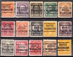 USA Precancel Vorausentwertung Preo, Locals Washington, Seattle 225, 15 Diff. Perf. 13 X 11x11, 2 X 10x10 - Vereinigte Staaten