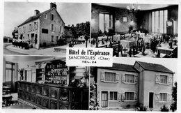 CPSM - SANCERGUES (18) - Carte Multi-vues De L'Hôtel De L'Espérance De 1966 - Sancergues