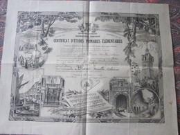 Diplôme---DRAGUIGNAN 1937 CERTIFICAT ETUDES PRIMAIRES ELEMENTAIRES -Blanc Née à SIGNANS Var 1924 - Diplômes & Bulletins Scolaires