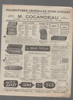 Paris Rue Du Faubourg Du Temple : Catalogue COCANDEAU Fournitures Générales Pour Cinémas (PPP15411) - Publicités