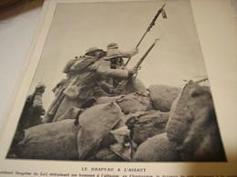 AFFICHE PHOTO LE DRAPEAU A L ASSAUT  1915 - 1914-18