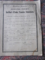 Diplôme--DRAGUIGNAN 1932 CERTIFICAT ETUDES PRIMAIRES ELEMENTAIRES-Scherrier Jean Charles Né 1920 à GONFARON Var - Diplômes & Bulletins Scolaires