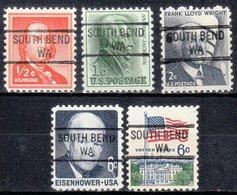 USA Precancel Vorausentwertung Preo, Locals Washington, South Bend 841, 5 Diff. - Etats-Unis