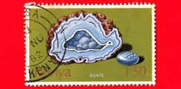 KENIA - Usato - 1977 - Minerali - Agate - 1.50 Sh - Kenia (1963-...)