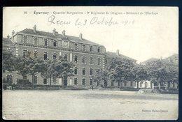 Cpa Du 51 Epernay Quartier Margueritte 9è Régiment De Dragons , Bâtiment De L' Horloge    SEPT18-39 - Epernay