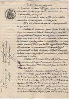 VP13.127 - Acte De 1901 - Entre Mme Vve GARDE & FRANCOIS Bail D'un Appartement Situé à MONTPELLIER - Manuscrits