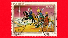 ZAIRE - Usato - 1980 - Natale - Christmas - Noel - I Tre Re Magi - Wise Men - 80 - Zaire