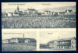 Cpa Allemagne Gruss Aus Mussbach Totalansicht , Bahnhof Metallwarenfabrik  SEPT18-39 - Allemagne