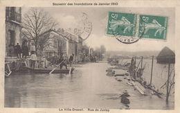Corbeil Essonnes : Inondations De 1910 : La Villa Draveil, Rue De Juvisy - Corbeil Essonnes