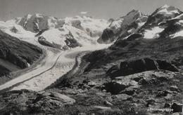 BERNINA → Berninagruppe Mit Gletscher, Ca.1950 - GR Grisons