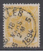 D8368 - Belgium Mi.Nr. 51 O/used - 1893-1907 Coat Of Arms