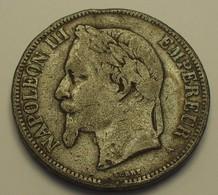 1870 - France - 5 FRANCS, NAPOLEON III, (A), Reprod, Pas En Argent, Not Silver - Variétés Et Curiosités