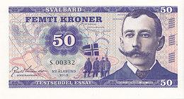 Norvège Svalbard 50 Kroner  2015  Spécimen UNC  Roald Amundsen - Noorwegen