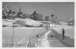 ST.MORITZ → Dimson-run Mit Skeletonfahrer Ca,1930  ►RRR◄ - GR Grisons