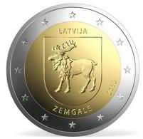 Pièce De 2 Euros Commémorative Lettonie 2018 :  Zemgale - Lettonie