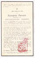 DP Romanie Parrein ° Woumen Diksmuide 1864 † Merkem Houthulst 1939 X Servaes L. Therssen - Images Religieuses