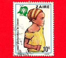 ZAIRE - Usato - 1979 - Anno Internazionale Dei Bambini - Ragazza - 10 - Zaire