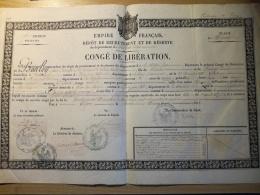 Congé De Libération 1861, 7e Div Militaire De DIJON. Fontangy, Précy Sous Thil,  Signatures à Identifier - Documents Historiques