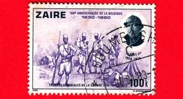 ZAIRE - Usato - 1980 - 150° Anniversario Del Belgio - Truppe - Albert I (1909-1934) - 100 - Zaire