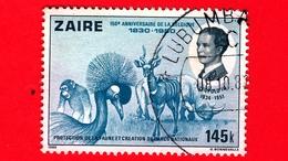 ZAIRE - Usato - 1980 - 150° Anniversario Del Belgio - Leopoldo III (1934-1951) - Fauna - 145 - Zaire