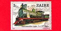 ZAIRE - Usato - 1980 (1979) - Locomotive - Locomotive Type 1 A 15 - Zaïre - 2 - Zaire