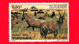 ZAIRE - Usato - 1982 - Parco Nazionale Virunga - Antilopi - Tsessebe (Damaliscus Lunatus) - 6.50 - Zaire
