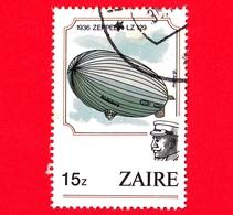 ZAIRE - Usato - 1984 - Palloni Aerostatici - Mongolfiere - 1936 Zeppelin LZ 129 - 15 - Zaire