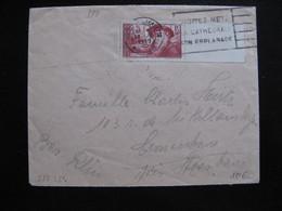 S/L 324 - TB Enveloppe Affranchie Avec N° 324;  De Metz Pour Strasbourg  ( 23/04/1939) - Postmark Collection (Covers)