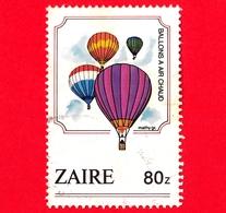 ZAIRE - Usato - 1984 - Palloni Aerostatici - Mongolfiere - Ballons A Air Chaud - 80 - Zaire