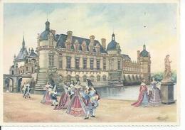 2 - CHATEAUX DE L'ILE-DE-FRANCE - CHANTILLY   ( Déssin: HOMUALK ) - Homualk