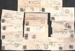 Lot Pour étude : 15 Envois Avec Facture... 10 Cent Losange Charbonnage... Voir Zie See Scans, Avec Annotations) - Belgique
