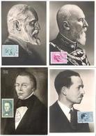 """Liechtenstein 1962/64: MK """"Fürsten & Kaiser"""" Mit Zu 383+W29-31 Mi 415-417+448 Yv 367-369+393 Mit ET-o VADUZ - Maximumkarten (MC)"""