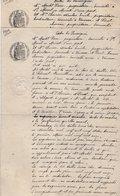 VP13.131 - SAINT MARCEL EN MURAT - 2 Actes De 1909 - Entre Mrs MONTEL & CHEVRIER Vente De Bois Situé à VOUSSAC - Manuscrits