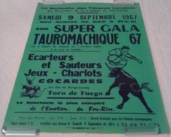AFFICHE ANCIENNE ORIGINALE Arènes De DAX TAUROMACHIE COURSE LANDAISE 1967 Mutuelle Des Toreros PUBLICITE Illustrateur - Affiches