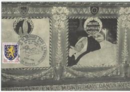 Carte Postale Oblitération Illustrée Châsse Ste Bernadette Nevers Lourdes 13 12 1969 90 ° Anniversaire De La Mort - Christianisme